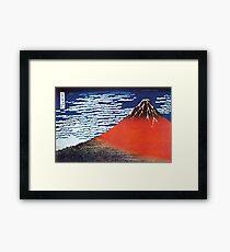 Mount Fuji By Hokusai  Framed Print