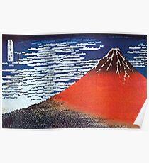Berg Fuji durch Hokusai Poster