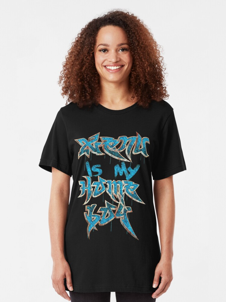 Alternate view of Xenu Is My Homeboy Slim Fit T-Shirt