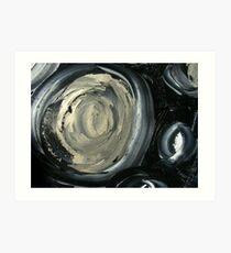 SILVER MOON - ABSTRACT Art Print