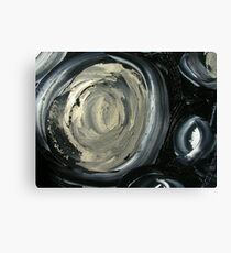 SILVER MOON - ABSTRACT Canvas Print