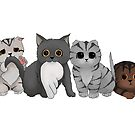 A Gang of Kittens by sajedene