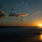 Moonset from Ethel Beach by pablosvista2
