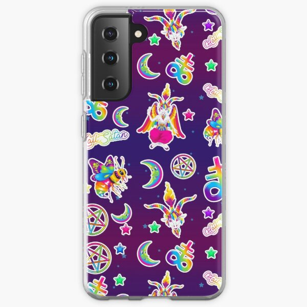 1997 Neon Rainbow Baphomet Samsung Galaxy Soft Case