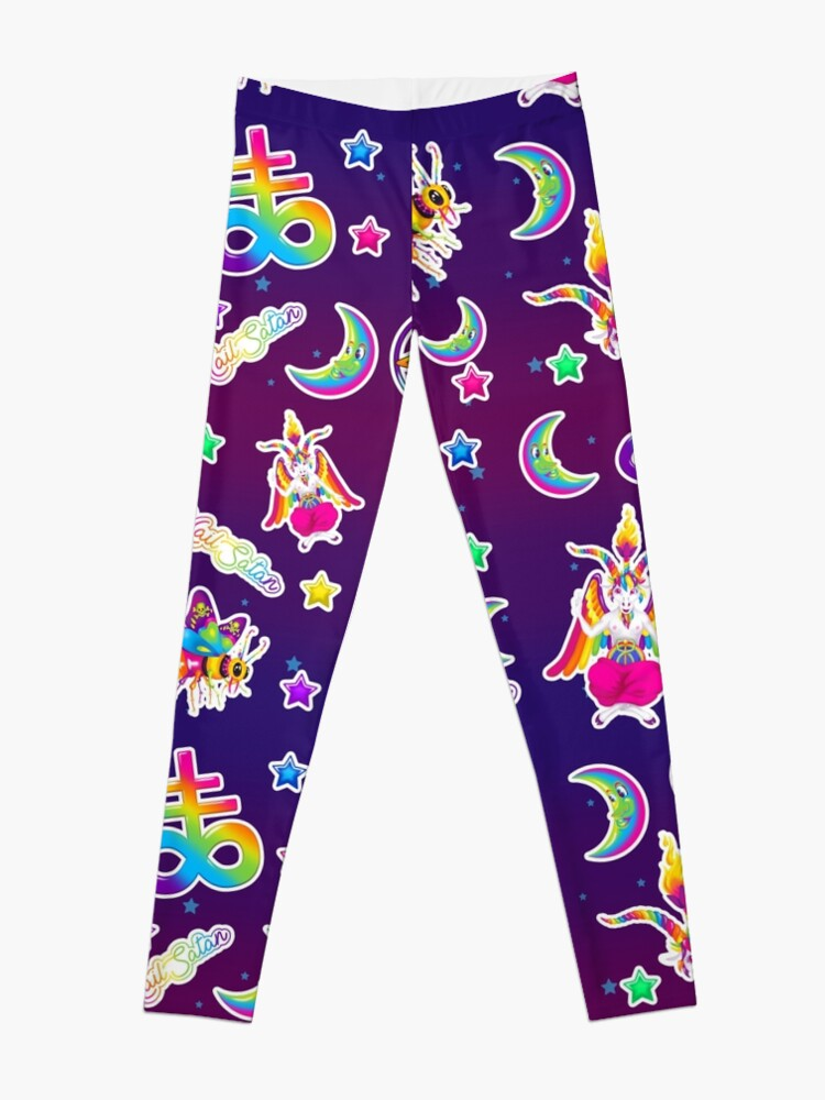Alternate view of 1997 Neon Rainbow Baphomet Leggings