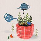 «Riego de mis plantas» de carosurreal