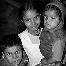 Children in Varanasi Slums, India 2008 by Tash  Menon