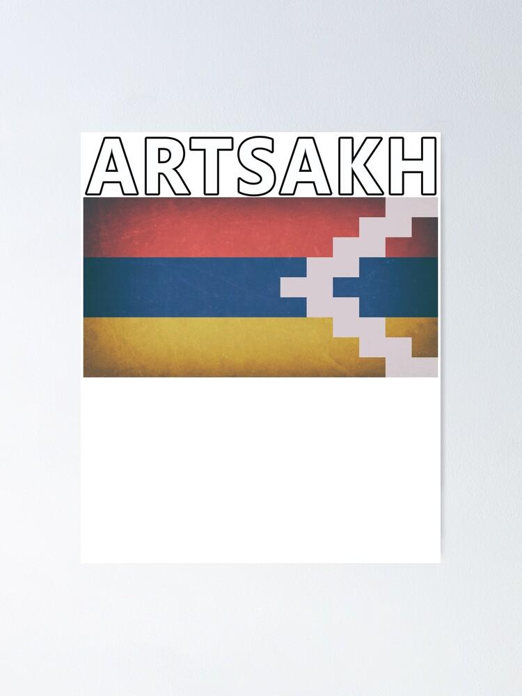 Artsakh Flag Nagorno Karabakh Heritage Pride Original Poster By Merchhost Redbubble