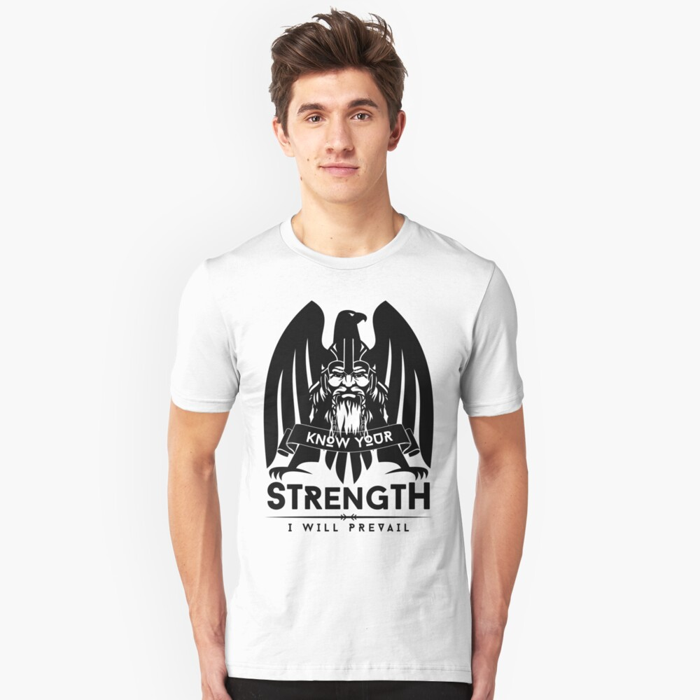Know Your Strength / Wikinger / Vikings / Black Unisex T-Shirt Front