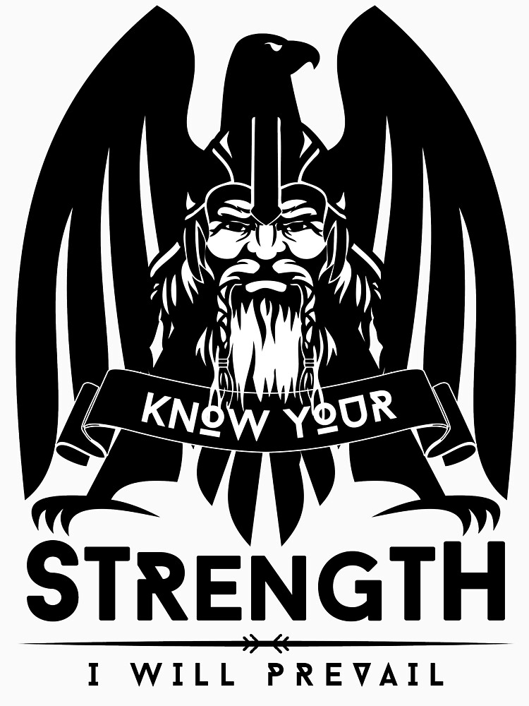 Know Your Strength / Wikinger / Vikings / Black by norwik