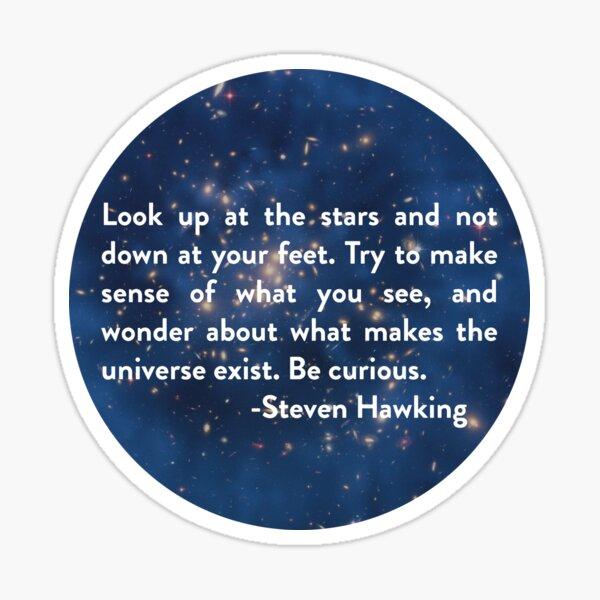 Steven Hawking- Open your Eyes Sticker
