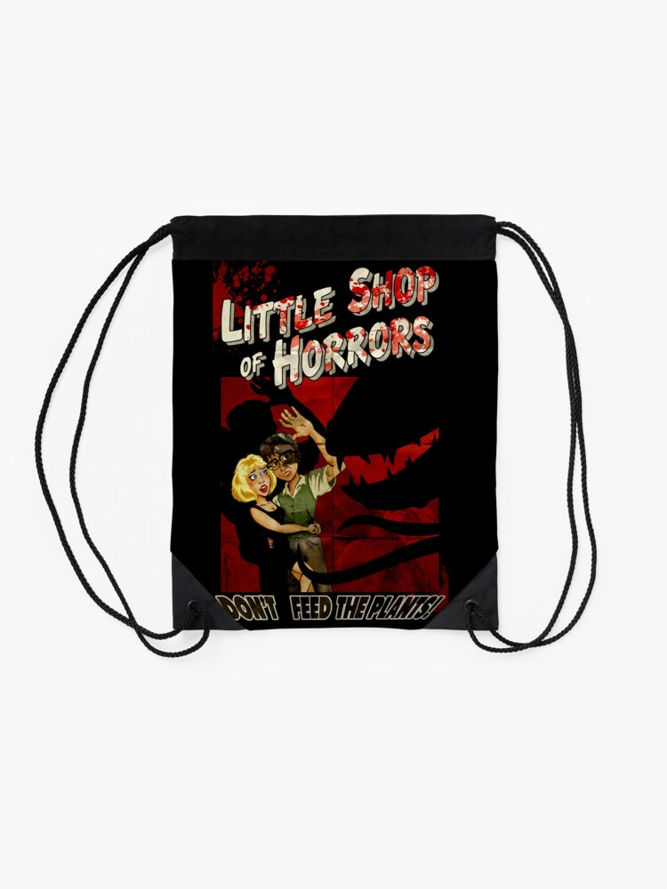 Alternate view of Little Shop of Horrors - pulp style Drawstring Bag