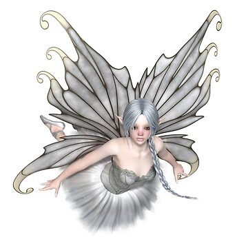 Ballerina Winter Fairy Flying by algoldesigns