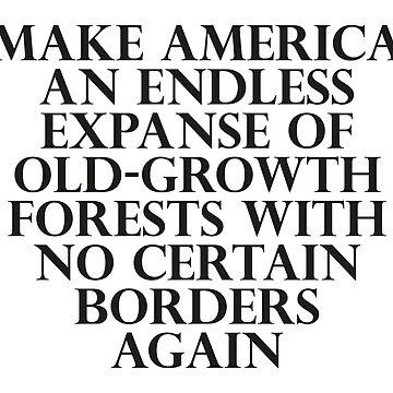 Machen Sie Amerika zu einer unendlichen Weite altbeständiger Wälder ohne Grenzen von dru1138