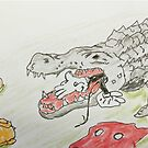 Gator and mouse by Branwen Drew