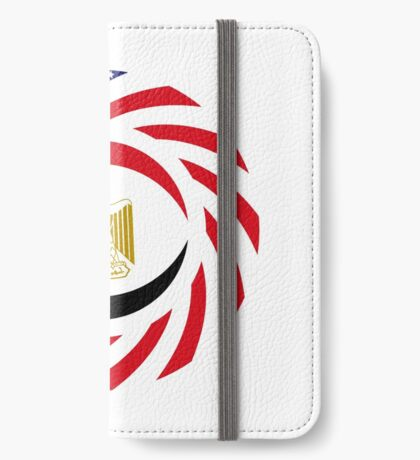 Egyptian American Multinational Patriot Flag Series iPhone Wallet