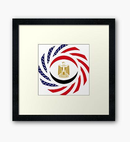 Egyptian American Multinational Patriot Flag Series Framed Print