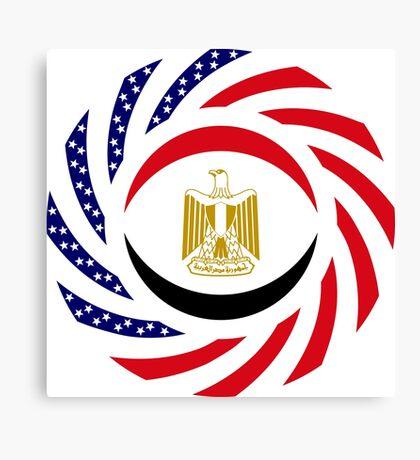 Egyptian American Multinational Patriot Flag Series Canvas Print