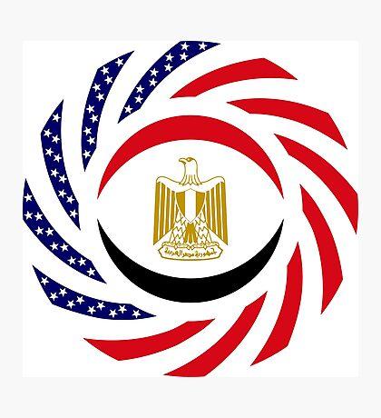 Egyptian American Multinational Patriot Flag Series Photographic Print