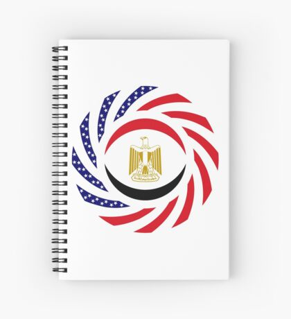 Egyptian American Multinational Patriot Flag Series Spiral Notebook