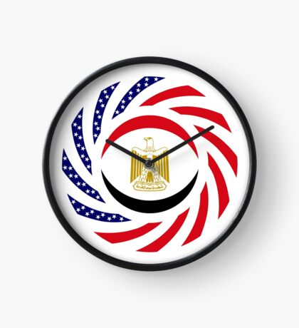 Egyptian American Multinational Patriot Flag Series Clock