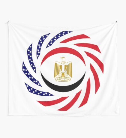 Egyptian American Multinational Patriot Flag Series Wall Tapestry