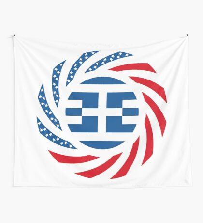 Greek American Multinational Patriot Flag Series Wall Tapestry