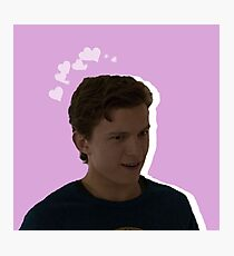 Peter Parker - Pink Heart Photographic Print