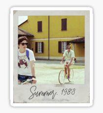 Ruf mich mit deinem Namen Polaroid an Sticker