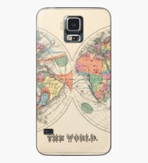 Vintage Map of The World (1873) Case/Skin for Samsung Galaxy