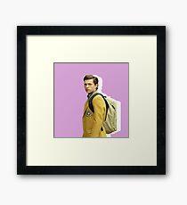 Peter Parker - Pink Backpack Framed Print