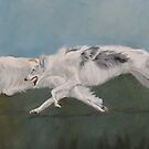Borzoi Race by Charlotte Yealey