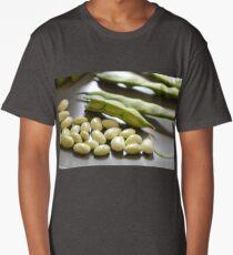 Green Shell Beans Long T-Shirt