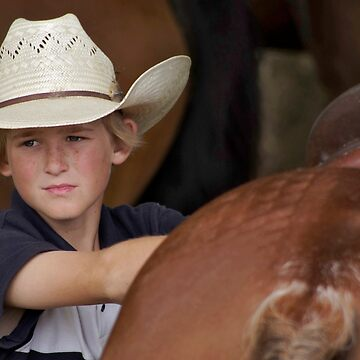 A young Cowboy among the Horses by colinsart