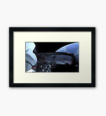 SpaceX Starman - DON'T PANIC! Framed Print