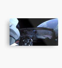 SpaceX Starman - DON'T PANIC! Metal Print