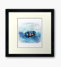 Digital Print of an Original Art Piece Painting done by Loren B Trute Ship In A Bottle Framed Print