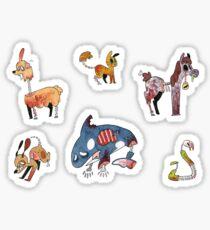 Zombie Animal Stickers Sticker
