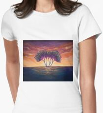 Tree landscape Women's Fitted T-Shirt