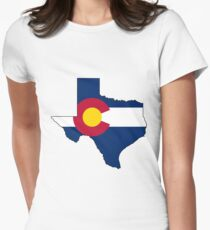 Texas and Colorado Love! Women's Fitted T-Shirt