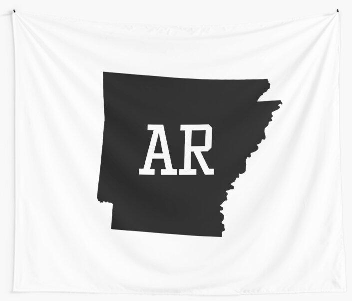 Arkansas State Map AR Abbreviation\