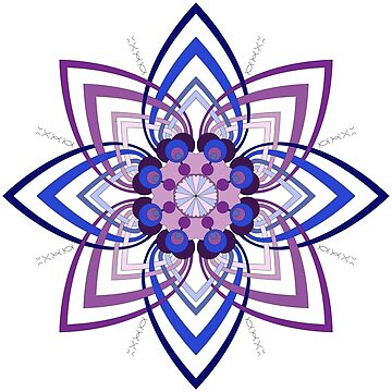 Intertwined Mandala in Blues and Purples by annbelleproject