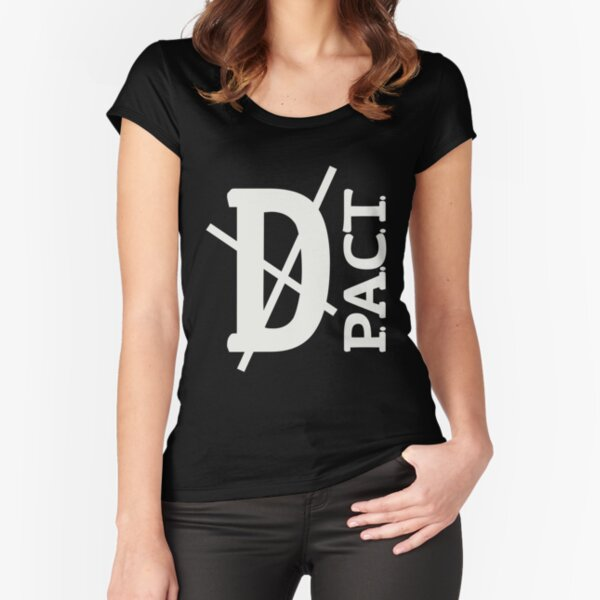 Death P.A.C.T. (hanger logo) Fitted Scoop T-Shirt