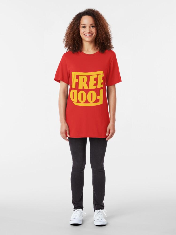 Alternate view of Free Food (hanger logo) Slim Fit T-Shirt