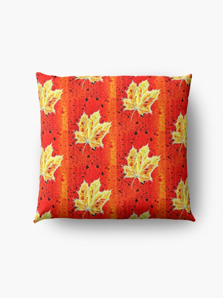 Alternate view of Falling Leaves - Autumn Floor Pillow