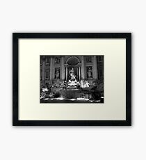 Trevi Fountain - Rome - Italy Framed Print