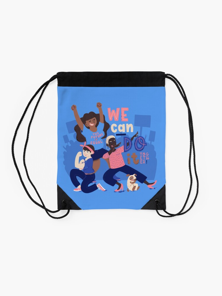 Alternate view of We Can Do It (Together) Drawstring Bag