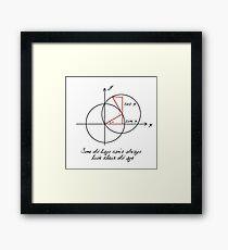 Trigonometry made easy Framed Print