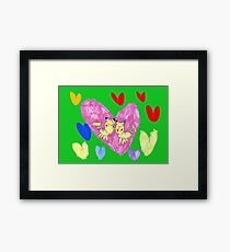 Some more love and kisses Framed Print