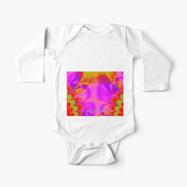 Gifts Of Others' Work Are Blessings In My Life Long Sleeve Baby One-Piece